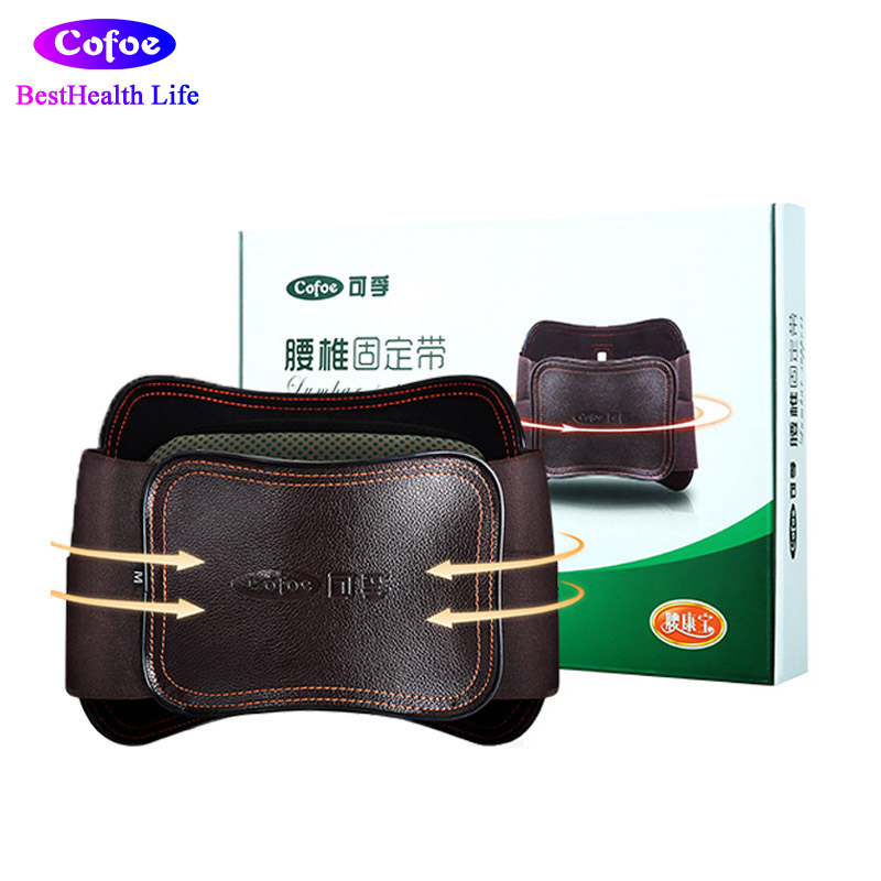 Cofoe Adjustable Heating Lumbar Lower Back Support Massage Brace Self-heating Magnetic Therapy Belt Relieve Pain relieve pain relax massager heat belt infrared therapy heating belt healthy waist support acupuncture digital stimulator device