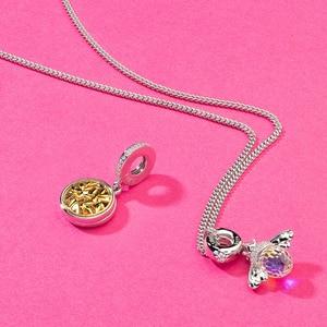 Image 3 - Athenaie 925 Sterling Zilver En Pave14K Gold Clear Cz Openen Boom Van Liefde Hanger Charms Fit Vrouwen Armband Mode sieraden
