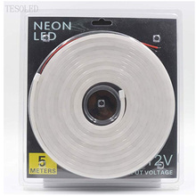 DC12V LED Strip DIY Neon Lamp Light Warm white Neon 6mm*12mm for modeling, indoor Waterproof for Car Garden Party Lighting
