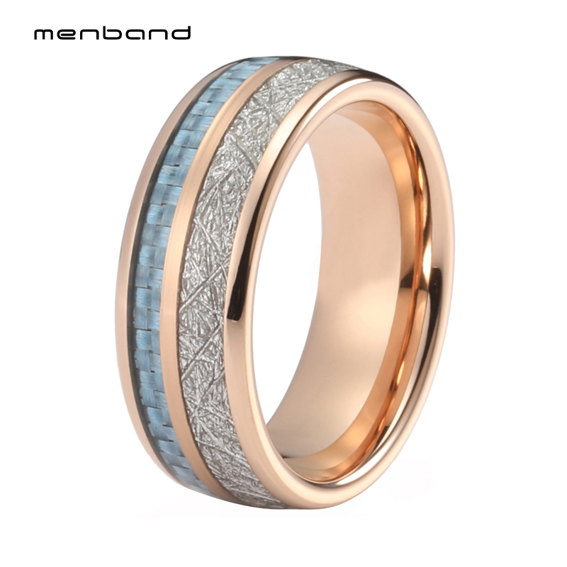 Rose Gold Mens Womens Wedding Band Tungsten Carbide Ring