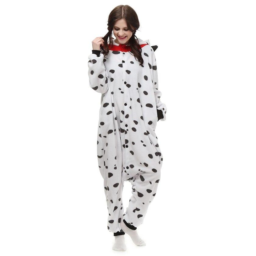 Взрослый флис кигуруми Далматин собака костюм животных Onesie пижамы  Хэллоуин Карнавал мавечерние скарад партия комбинезон одежда купить на  AliExpress dbb0906ca35c1