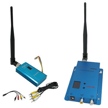 FPV Video Transmitter 1.5GHz 1500mW Long Range Video Transmitter Receive Kit, 3000m 1.5g Mini Wireless Transmitter