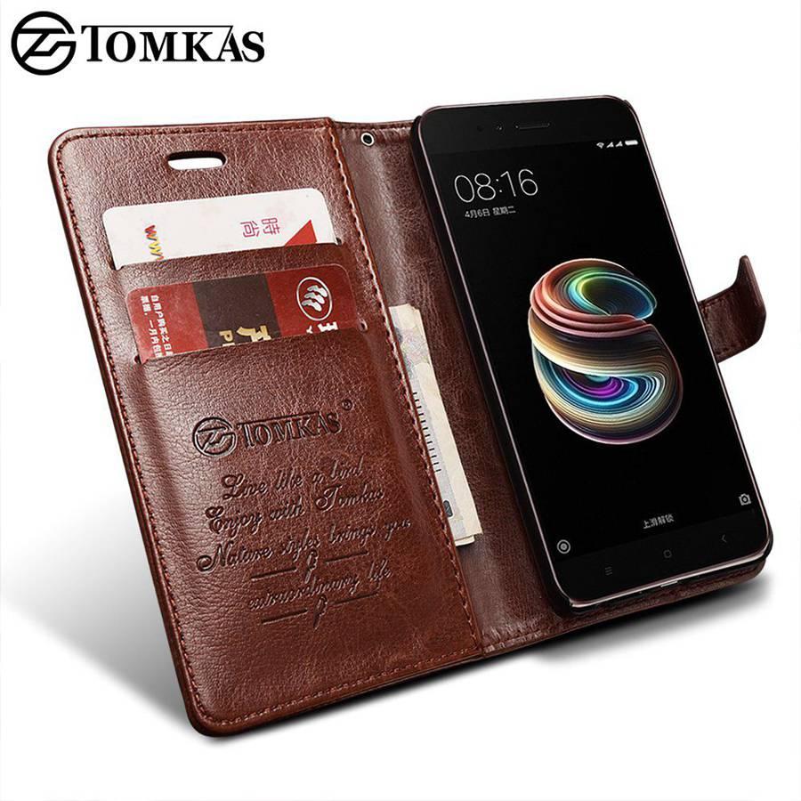 TOMKAS Fitted Cases Xiaomi Mi A1 Mi 5X Case Leather Wallet Luxury PU Filp Phone Bag Cover For Xiaomi Mi5X Mi A1 Mi5X Case Coque