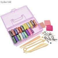 Lychee Life Colorful DIY Handmade Clay Sculpture Tools Pliers For Children Pottery Ceramics Accessories