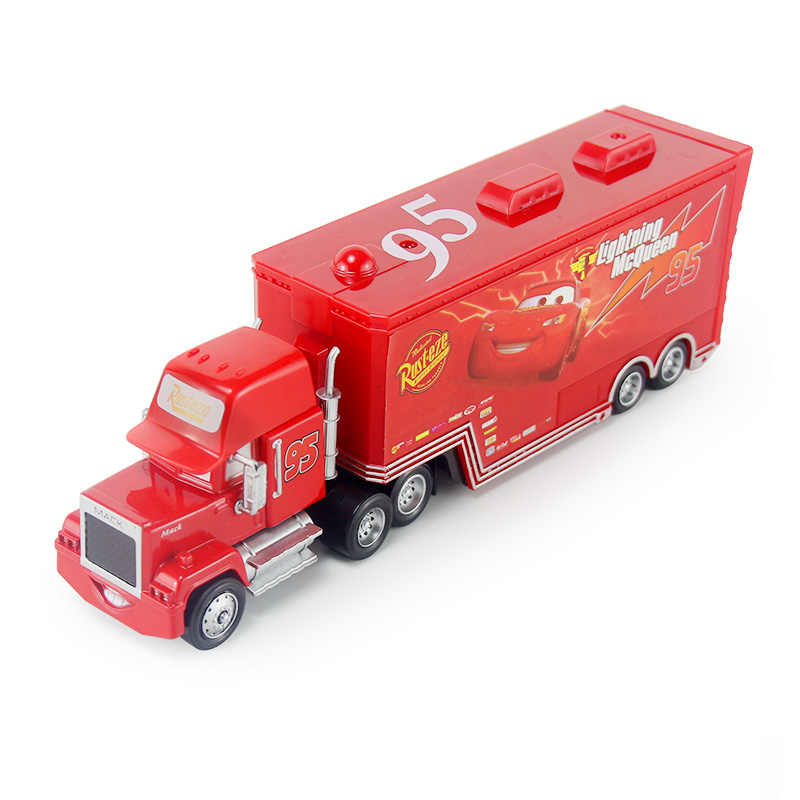 Disney Pixar Cars 2 3 Lightning McQueen Mack Uncle Truck Jackson Storm Cruz 1:55 Diecast Metal Alloy Car Model Children Toy