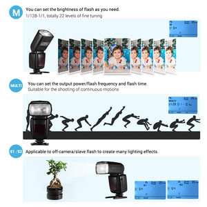 Image 2 - for Canon Nikon Sony Olympus Pentax DSLR Camera Universal Wireless Camera Flash Light Camera Speedlite GN33 LCD with Mini Stand