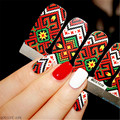 14pcs/ Sheet Knitting Nail Wraps Weave Nail Art Full Stickers MDS1039