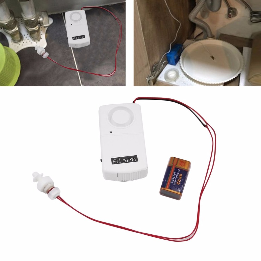 Water Leaks Alarm Security Wireless Water Level Overflow Leakage Alarm Alert Sensor Detector 120dB цены