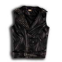 Vest Chaleco Hombre Hip Hop Short Men And Women Without Sleeves, Cuff skin Machete Jackets, Large Sizes For Pu Leather Jackets