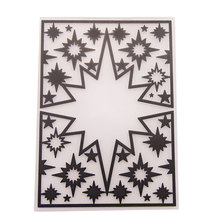 Kind of Size Glowing Stars Stencil for DIY Home Cake Decor Planner Scrapbooking Album Crafts Arts Template Decoration Cards Tool