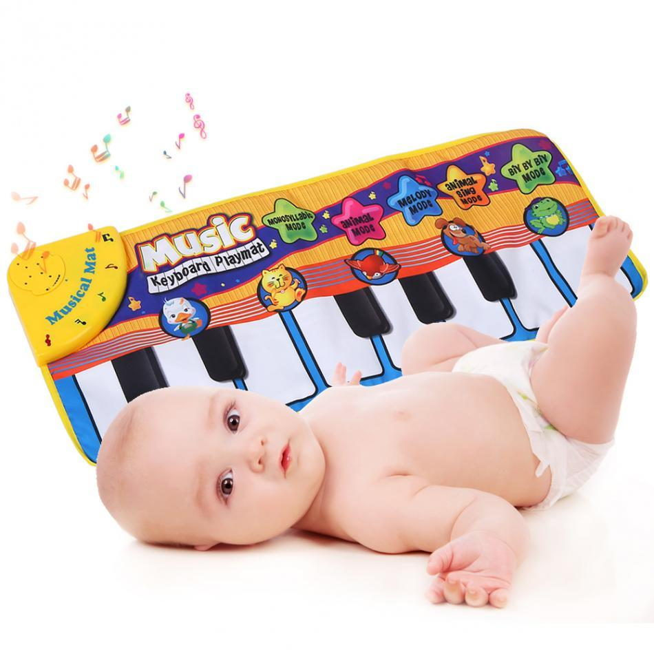 Baby Piano Music Play Mat Animal Sounds Musical Keyboard Crawling Blanket  Kids Gift educational carpet Electronic toys for kids| | - AliExpress