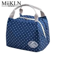 Miikln холст Термальность сумка 6 цветов для 2 человек Утепленная одежда окно lunchbox для Для женщин для детей Термальность изолированные обед мешок