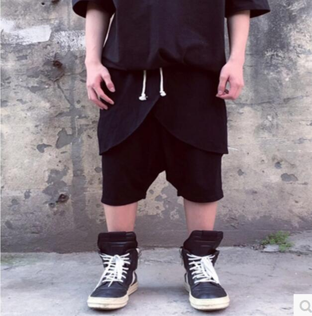 longitud Casual Los Capa Trajes Culottes Black Patchwork Doble 2017 Más Nueva Tamaño Ropa Rick Ro El De Cantante 27 Hombres 44 Rodilla Pantalones nvqS4U