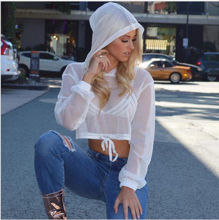KEENEST Female Mesh Hoodies Workout Long Sleeved T Shirt Outdoors Running Sport Dancing Yoga
