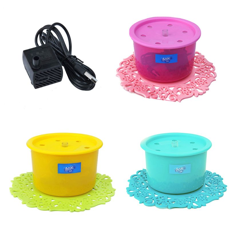 USB Electric Pet Water Dispenser Cat Automatic Circulation Drinker Dog Fountain Type Oxygen Feeder
