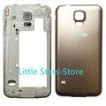 OEM Batería de Oro Nuevo Metal Frame Media Del Bisel Volver Reemplazo de La Cubierta de puerta Trasera Para Samsung Galaxy S5 Neo G903 G903F