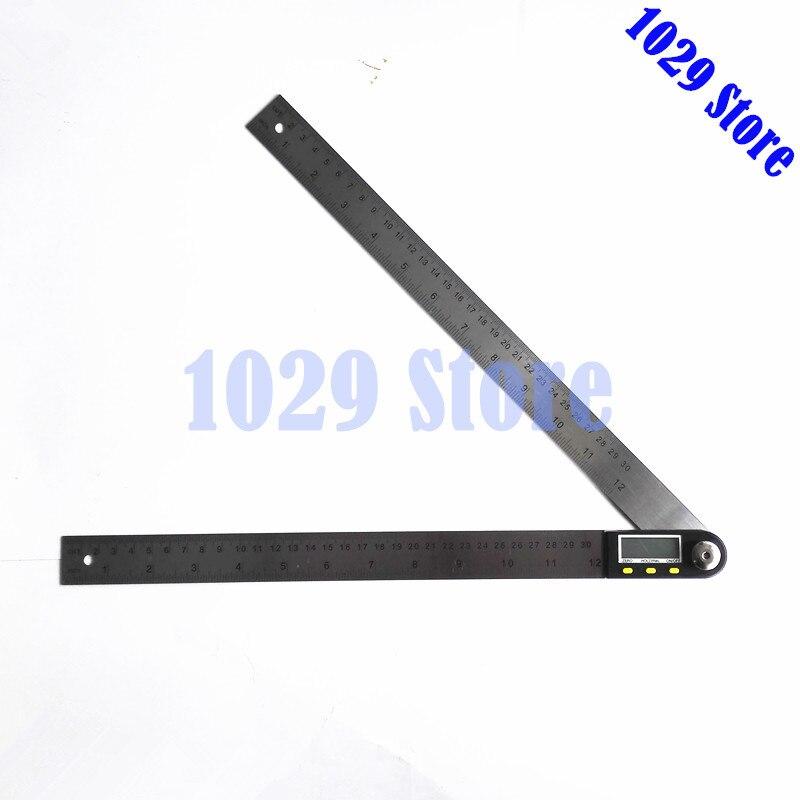 300mm 12 edelstahl Digitale Winkel Lineal Finder Meter Winkelmesser Neigungs Goniometer Elektronische Winkel Gauge Mit Lcd Winkelmesser