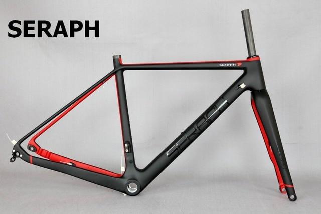 2020 Available Gravel 700C Carbon Bike Frame,SERAPH bikes Thru Axle 142mm Gravel Di2 Carbon Cyclocross Frame Disc GR029