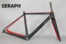 2020 disponível cascalho 700c quadro de bicicleta de carbono, seraph bicicletas através do eixo 142mm cascalho di2 carbono cyclocross quadro disco gr029