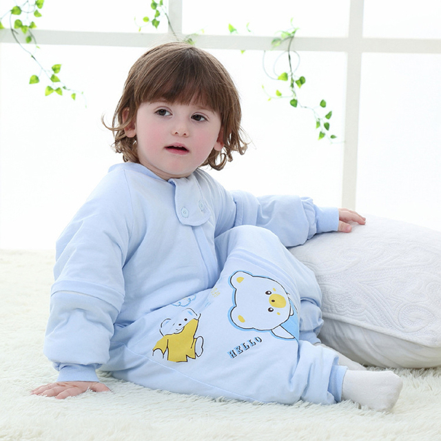 Cute Winter Baby Sleeping Bag Legs For Stroller Newborn Sleepsacks Infant Long Sleeve Sleep sack Kids Warm muslin baby bag sleep