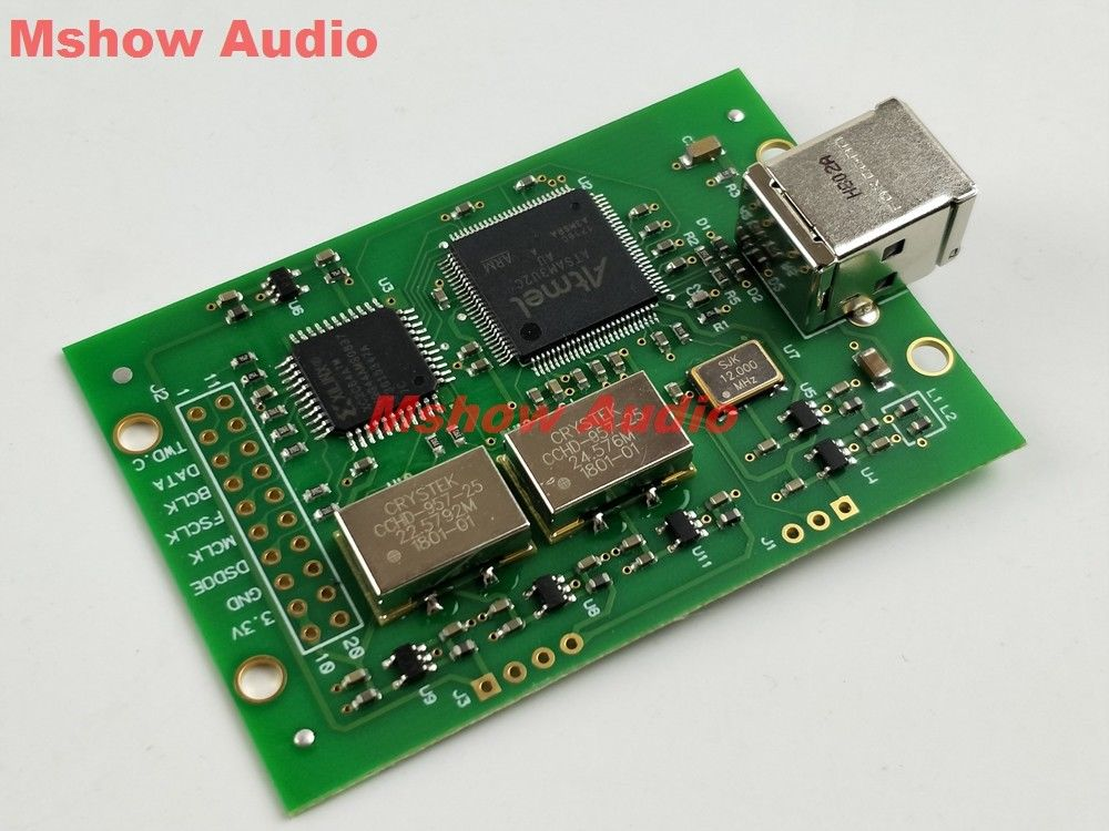 Amanero USB I2S module PCM combo384 module DSD512 Upgraded with Crystek CCHD 957
