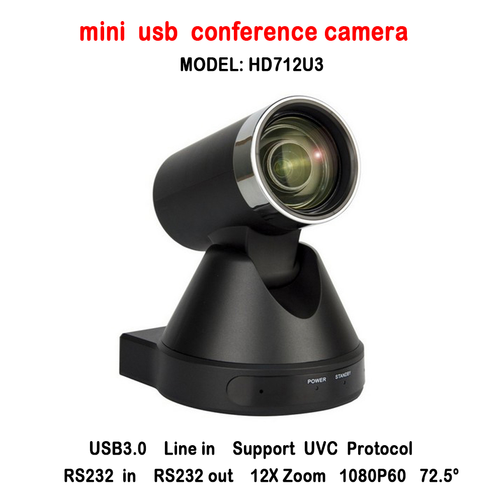 New Design 2MP 12x Optical Zoom HD Mini USB Local Storage PTZ Video Conference Camera For Any Web Conferencing System ikecix u12x 2m 12x zoom usb 1080p video conference camera microphone