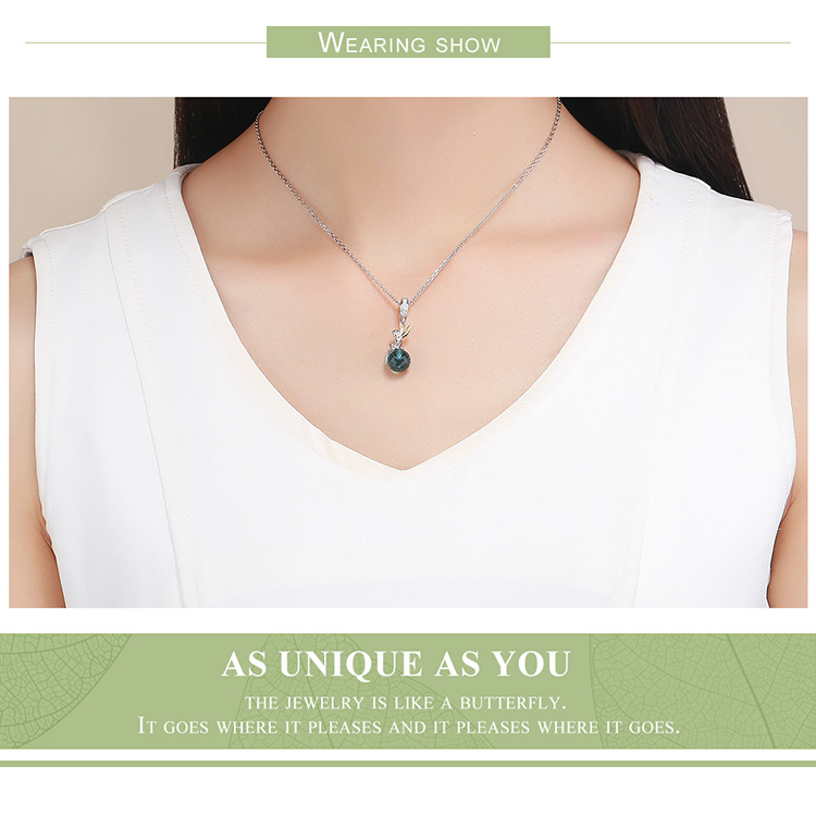 pendant necklace Authentic 925 Sterling Silver Elf Planet Blue Zircon Pendant Charms fit Original Necklaces & Bangles Jewelry Gift
