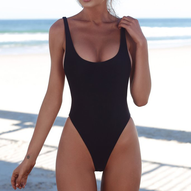 <font><b>Sexy</b></font> One Piece <font><b>Swimsuit</b></font> <font><b>Women</b></font> <font><b>2018</b></font> <font><b>Sexy</b></font> One Piece <font><b>Swimsuit</b></font> Solid Female <font><b>Women</b></font> image