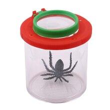 Пластиковая бутылка насекомые зрители наблюдения насекомые маленькие животные Лупа Стекло цилиндрическая паук обучающая игрушка
