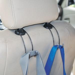Image 3 - Car Seat Hook Auto Hidden Back Seat Headrest Hanger for Handbag Shopping Bag Coat Storage Hanger Car Accessories Hook Organizer