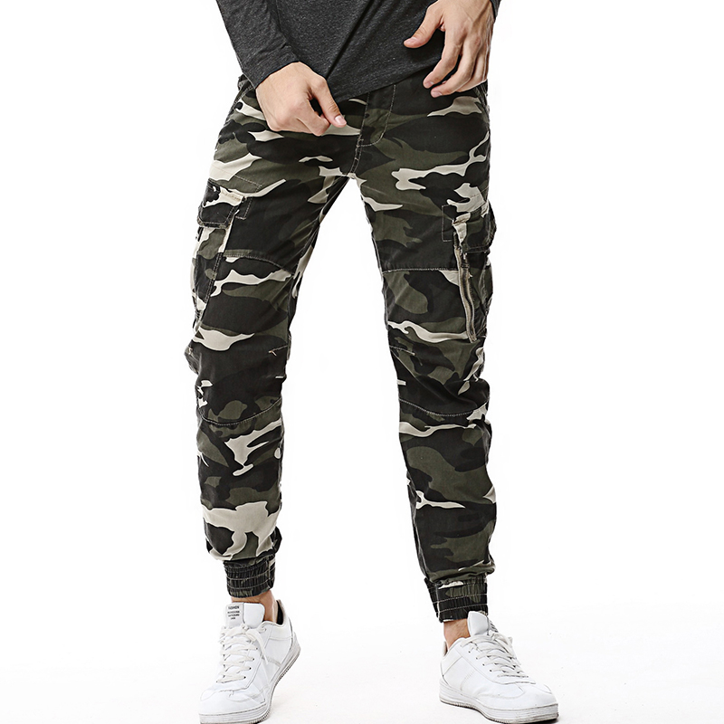 2018 Fashion Spring Mens Tactical Cargo Joggers Men Camouflage Camo Pants Army Military Casual Cotton Pants Hip Hop Male Trouser