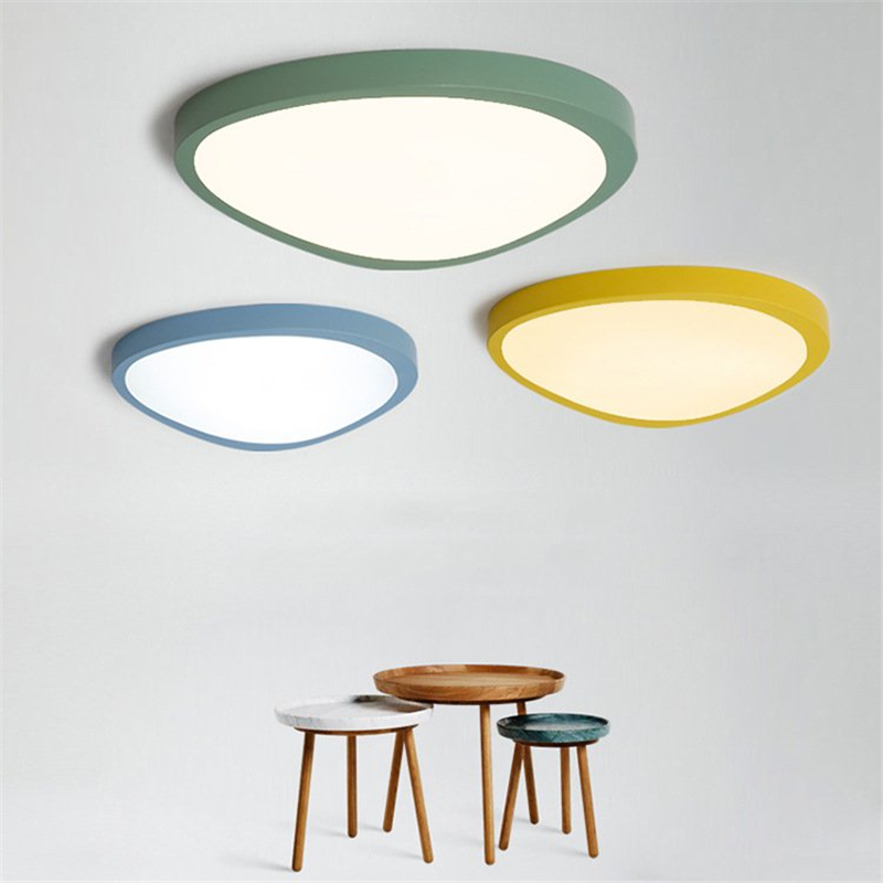 Ultra-thin 5cm Mango Style Colorful LED Ceiling Lamp Creative Geometry Macaron Lights for Kindergarten Childrens Room