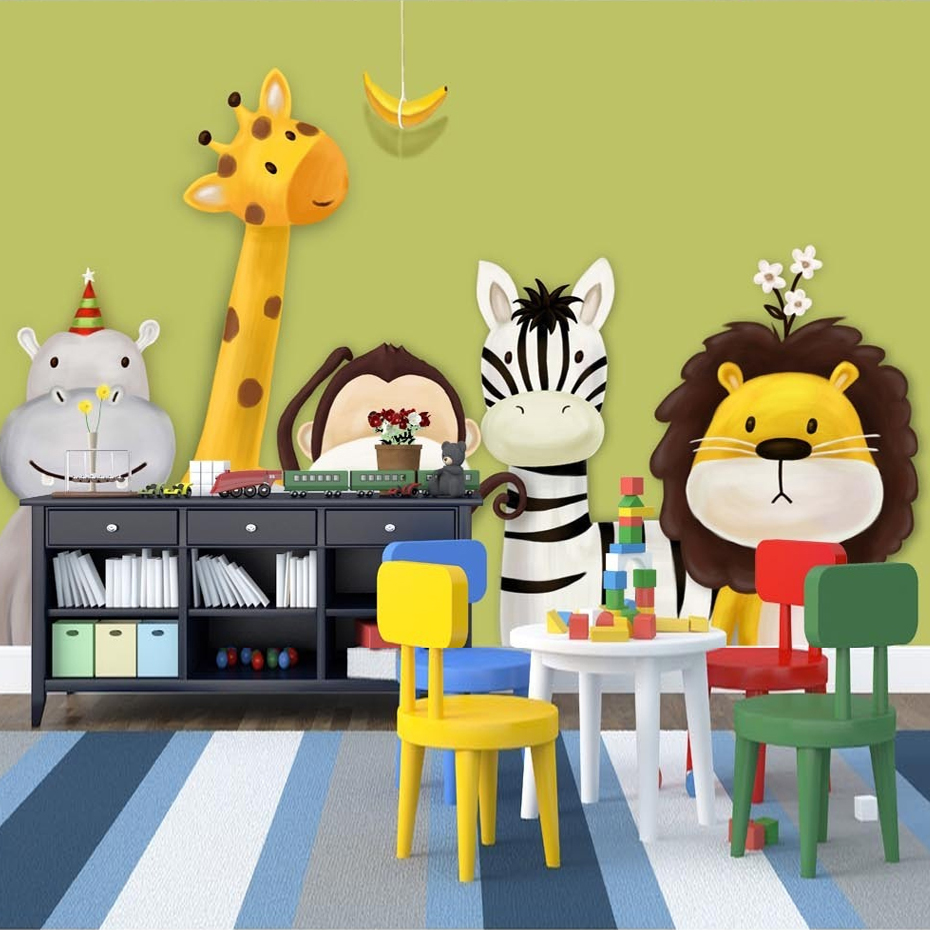 Custom Mural Wallpaper Children\'s Room Bedroom Cartoon Theme ...