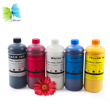 Winnerjet 5 colors DTG White Textile Pigment Ink For Epson R270 R280 R290 R330 R1800 R1900 R2000 L800 L801 L1800 flatted printer