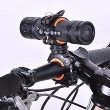 360 градусов вращающийся велосипедный Подседельный штырь зажимы двойной СВЕТОДИОДНЫЙ Фонарь держатель передний флэш-светильник насос руль аксессуары для велосипеда