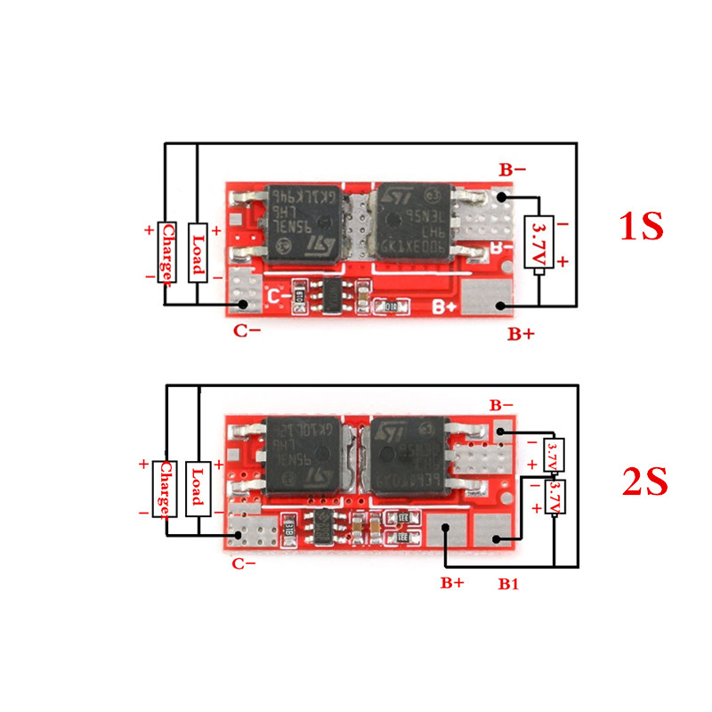 10A BMS 1S 4.2V 2S 8.4V PCB PCM BMS Charger Charging Module 18650 Li-ion Lipo 1S 2S BMS Lithium Battery Protection Circuit Board