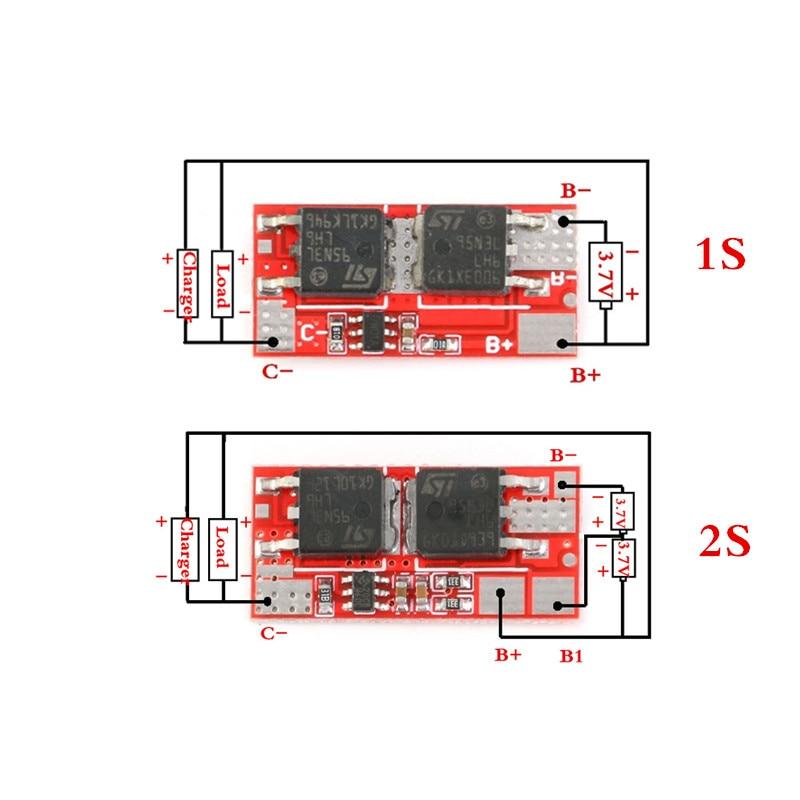 10A BMS 1S 4,2 V 2S 8,4 V PCB PCM BMS зарядное устройство зарядный модуль 18650 Li-Ion Lipo 1S 2S литиевая батарея BMS Защитная печатная плата