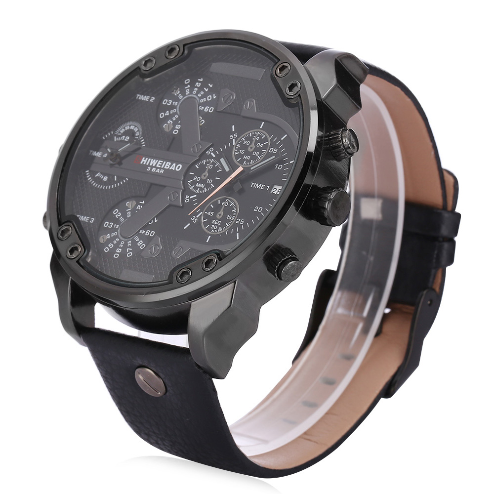 masculino unique casual fashion grande luxury in brand zone hot leather design tome tag face men cool military from dial watch relogio band quartz oulm item big atm marca oversize watches