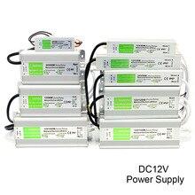 DC 12 v Wasserdicht Netzteil AC90-250V zu DC12V 10 watt 20 watt 30 watt 50 watt 60 watt 80 watt 100 W 120 watt 150 watt Led-treiber Transformator für Streifen Licht