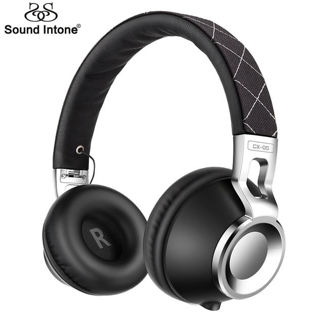 Sound intone cx-05 wired fones de ouvido com metal para computador de alta fidelidade fones de ouvido fone de ouvido com microfone gaming headset para passeio pedestre