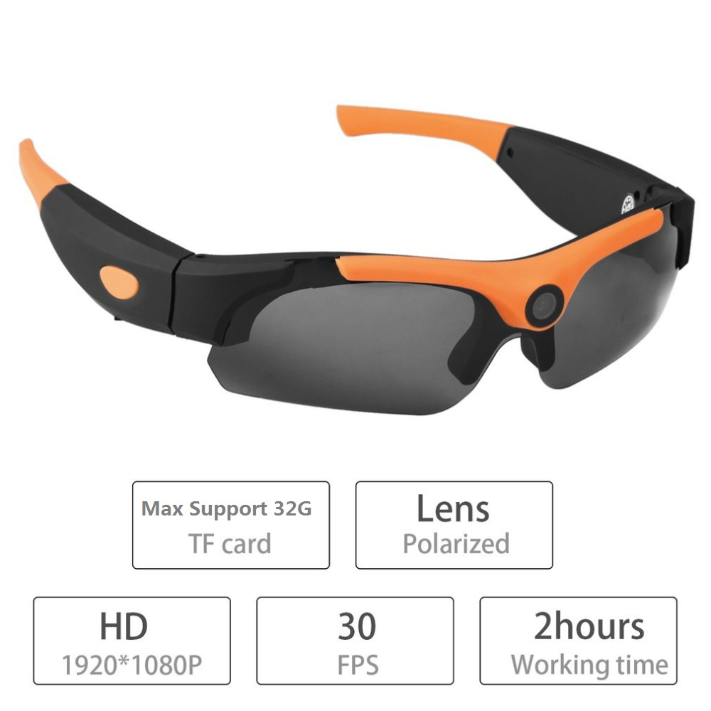 Eyewear Mini Camcorder HD 1080P 120 Gegree Wide Angle Sunglasses Recorde Outdoor Sports Sun Glass Support
