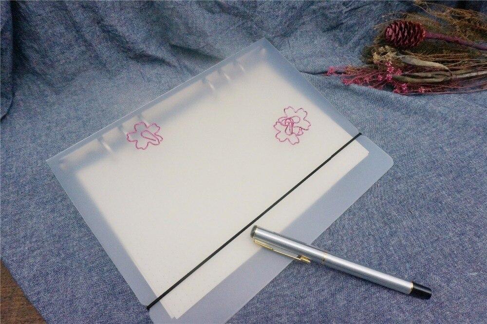 B5 A5 A6 A7 Eenvoudige PP PVC Spiraal Binder Losbladige Notebook Vel - Notitieblokken en schrijfblokken bedrukken - Foto 4