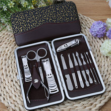 Professional Stone Pattern Case 12 Pcs Nail Clipper Kit Nail Care Set Pedicure Scissor Tweezer Knife Ear pick Manicure Set Tools