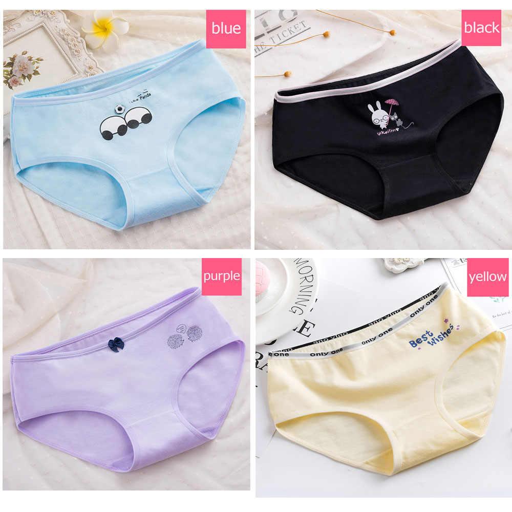 699838964a9a New Plus Size Panties Women Underwear Cotton Briefs Lingeries Cueca  Calcinhas Shorts Printed Underpants Girls Panty