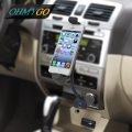 Car Phone Holder Stand with USB Charger Mount Support for the iPhone 6plus 6S 6 5S 5C 5 180 Degree Rotation Car Charger Cradle