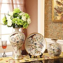 christmas decorations for home Fashion ceramic vase piece set decoration home accessories flower floral device wedding gift