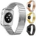 Correa de lujo correas de metal para apple watch band 42mm brazalete de eslabones de acero inoxidable de 38mm 42mm loop negro oro plata series2