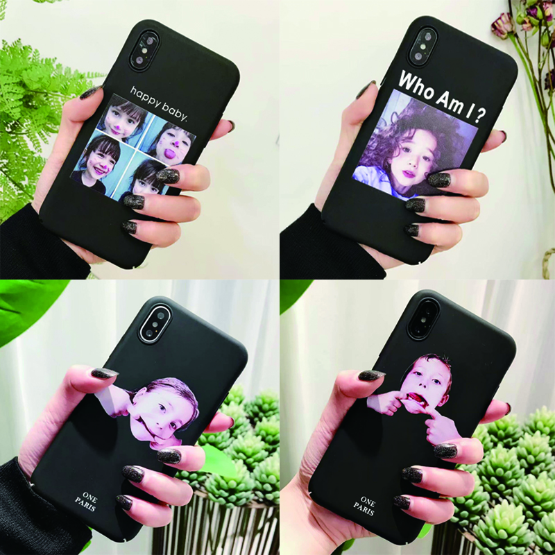 Fashion Cute For Apple iPhone 6 6s 7 8 Case girl boy Phone Cases Hard plastic PC Back Cover For iPhone 6 6s 7 8 X Plus Case