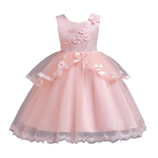 Wedding Dress Kids Party Dresses For Girls Elegant Bow Baby Girls Dress  Costume Children Dresses Formal c11eeb0ad5df
