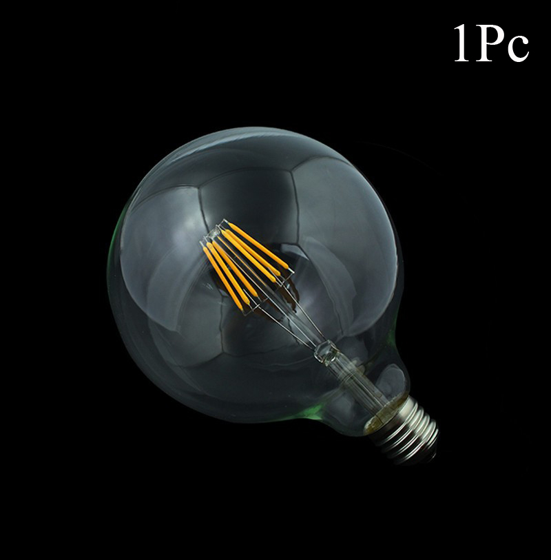 1x dimmable led filament bulb g125 g95 g80 big light bulb 4w 10w filament led bulb e27 clear. Black Bedroom Furniture Sets. Home Design Ideas